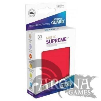 80 Fundas – Ultimate Guard – Supreme Rojo Mate