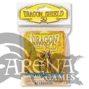 50 Fundas Dragon Shield - Amarillo