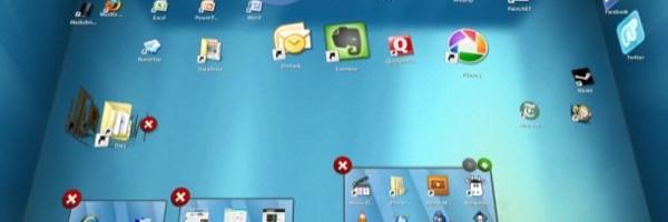 Bumptop, un desktop 3D tactil