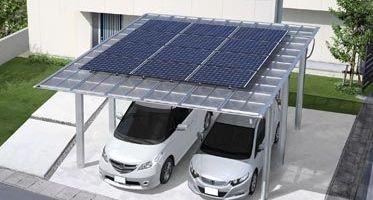 Garaj cu panouri solare