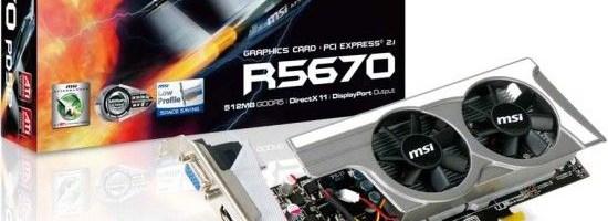 Radeon HD 5670 cu profil redus