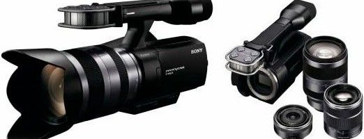 Sony NEX-VG10 schimba lentilele