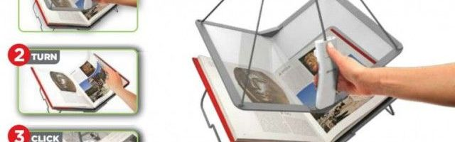 Ion Book Saver, scaneaza carti rapid