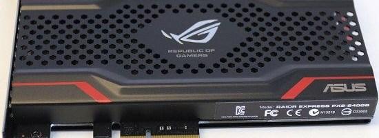 Asus ROG Raidr, primul lor SSD