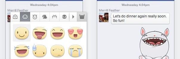 Emoticoane gigant pe Facebook