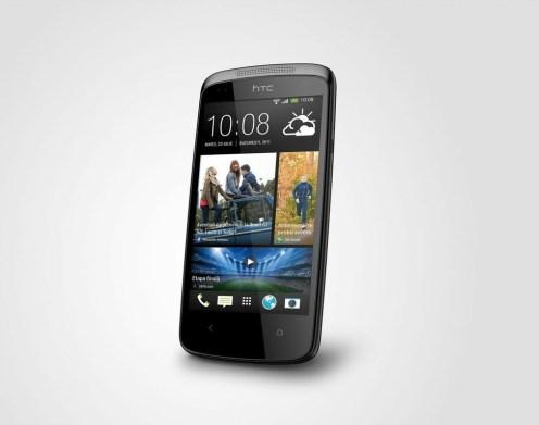 HTC Desire 500 negru perspectiva dreapta