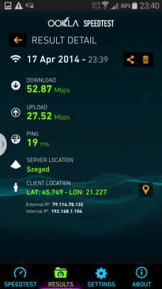 Internet 4G + WiFI (Booster) - Samsung Galaxy S5