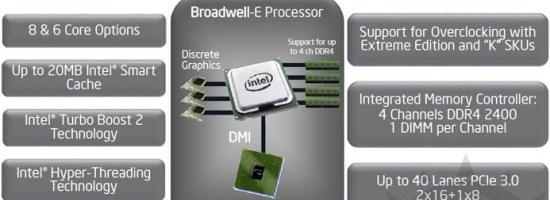 Intel amana procesoarele Broadwell E