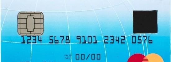 Card de credit cu cititor de amprente