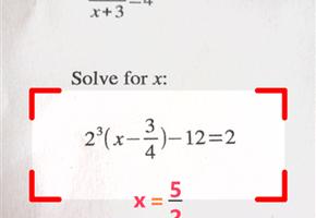 PhotoMath, aplicatia care iti rezolva problemele la matematica
