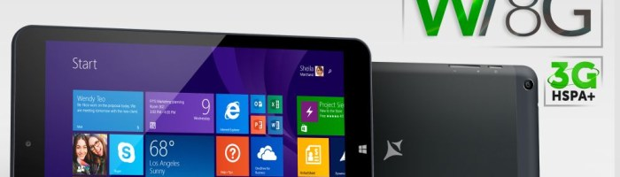 AllView a lansat tableta Wi8G cu Windows 8 si functie 3G