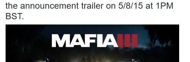 Mafia 3 este anuntat oficial