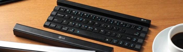 LG anunta Rolly, o tastatura portabila impachetabila