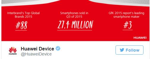 Huawei a vandut 27.4 milioane de smartphone-uri in Q3