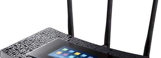 TP-Link are router cu touch screen