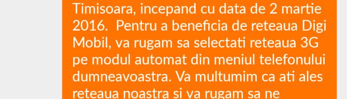 Digi Mobil opreste roaming-ul national in Bucuresti, Ilfov si Timisoara