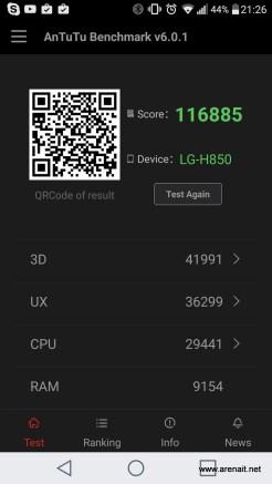 LG G5- AnTuTu