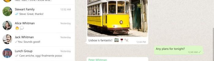 WhatsApp are acum si aplicatie pentru desktop (Windows sau Mac OS X)