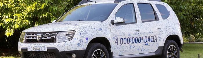 Dacia cu numarul 4 milioane