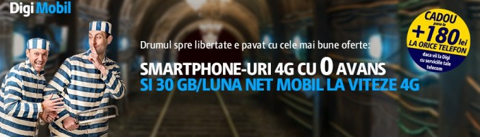 RDS Digi Mobil ofera telefoane 4G cu avans zero si reduceri pana la 300 lei