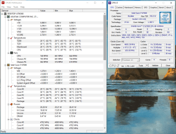 Intel Core i7-6700K @ 4.7 Ghz, 1.35 V idle - 33 grade Celsius
