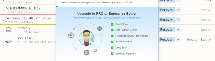 Disk Drill - aplicatie de recuperat date sterse de pe HDD