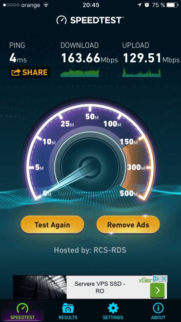5GHz la 10 metri de router