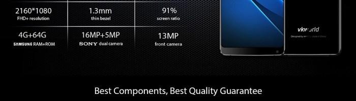 Vkworld S8 – smartphone cu ecran de 6 inch Full Screen