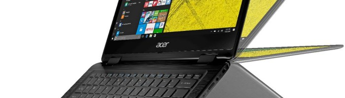 Review Acer Spin 5 - laptop convertibil cu stylus