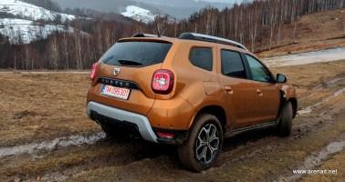Dacia Duster 2018 - panta cu noroi ~14 grade inclinatie