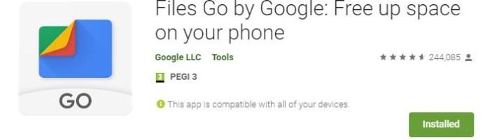 Files Go - aplicatie Android de la Google pentru managementul spatiului