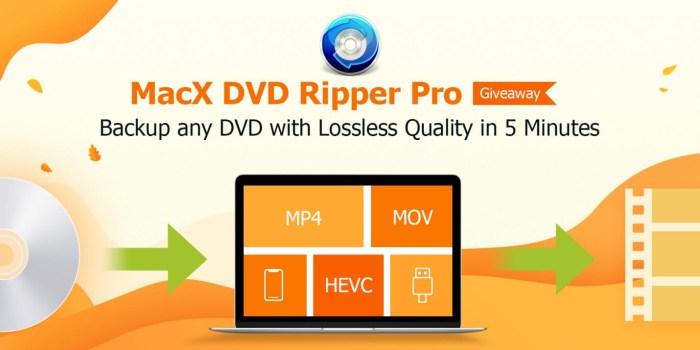 Tu mai folosesti DVD-uri? E CyberMonday si concurs la MacX DVD Ripper Pro