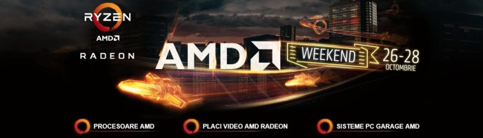 AMD Weekend la PC Garage - oferte la procesoare, placi video si sisteme AMD