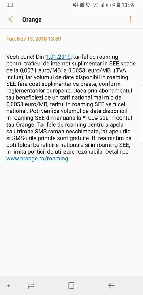 Orange scade tariful de roaming pentru traficul suplimentar de internet