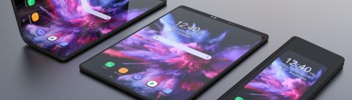 Imagini 3D cu Samsung Galaxy F, modelul flexibil