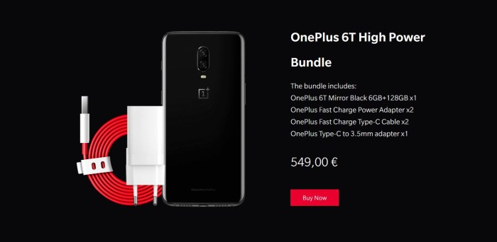 Black Friday 2018 la OnePlus: ai un cablu si un incarcator gratuit, plus reduceri la accesorii