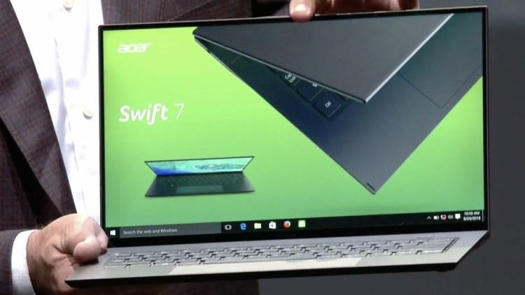 Acer Swift 7 2019 - un laptop spectaculos cu o grosime de sub 1cm