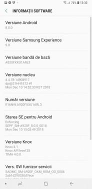 Samsung Galaxy A9 interfata (1)