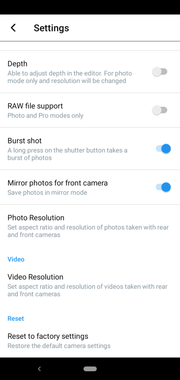 Nokia 4.2 camera settings 2