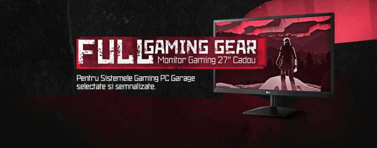 PC Garage iti ofera gratis un monitor de 27 inch la achizitia unui sistem din oferta