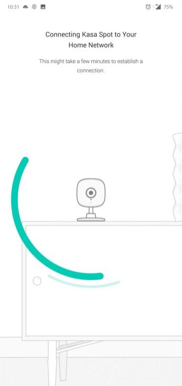 Cameră Kasa Spot instalare4