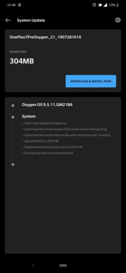 OnePlus 7 PRO system update 1