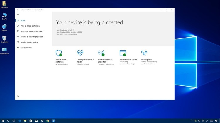 Windows Defender este cel mai bun antivirus