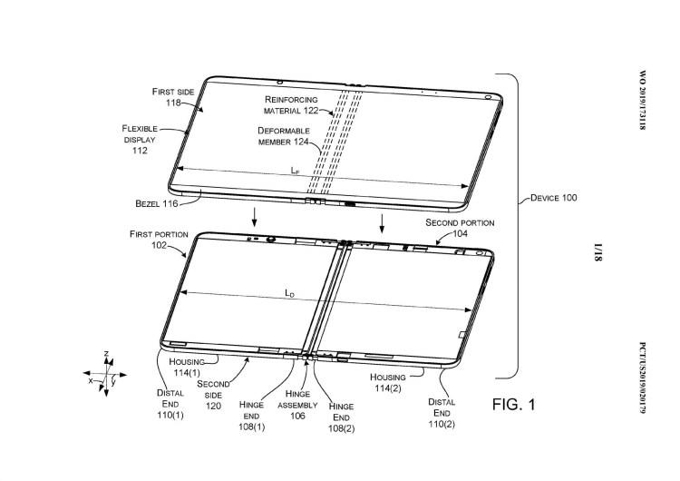 Microsoft a brevetat o balama cu lichid pentru dispozitive pliabile