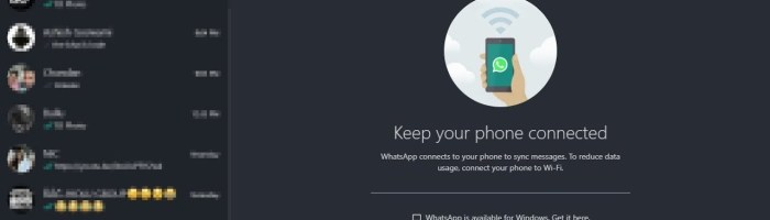 WhatsApp for Desktop primeste functie de Dark Mode