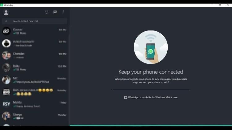 WhatsApp for Desktop primeste functie de Dark Mode