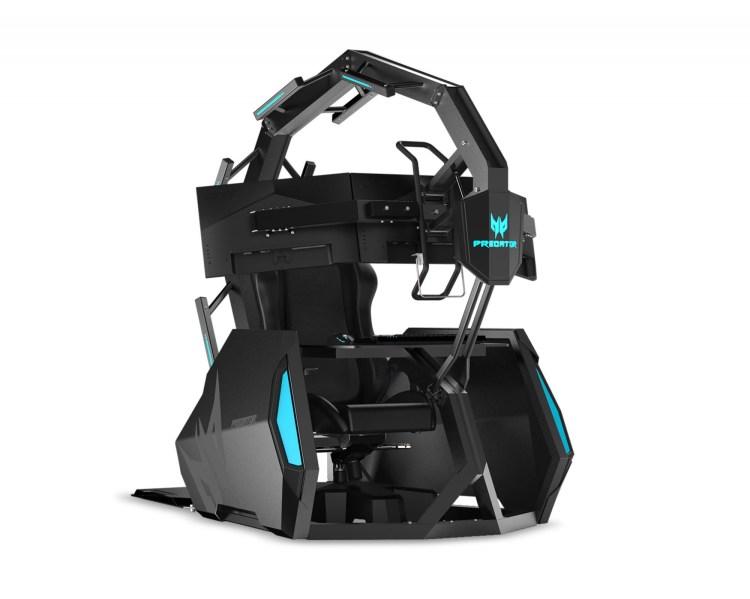 Acer Predator Triton 500 si scaunul de gaming Predator Thronos Air