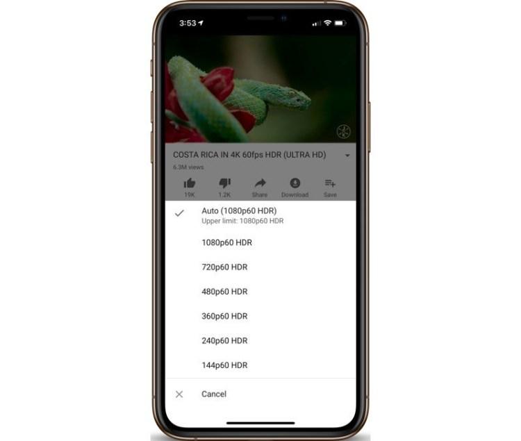 Aplicatia de Youtube permite redarea de continut cu HDR pentru iPhone-urile cu ecran OLED