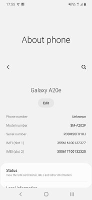 Samsung A20e_about phone