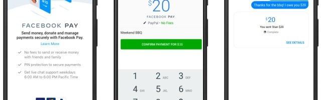 Facebook Pay disponibil in SUA